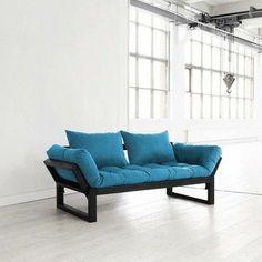 Nice blue sofa, I like it..