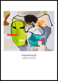 Familiar Faces / art poster 42X59,4 cm /A2 // Christina Julsgaard har med sine moderne farverige kunstplakater skabt et univers af fængende lethed i en tilgængelig og lækker udgave.  Christina Julsgaard har med sin lette moderne kunstplakater og naturlige tilgang skabt et æstetisk univers, hvor alle kan være med, selv dem der ikke har al verdens penge på kontoen. Se mere på http://www.cjulsgaard.dk/kunstplakater-plakater1
