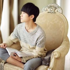 Loving this picture! if you like it, feel free to look at my other posts! #Jackson Yi# #TFboys#                  #易烊千玺#