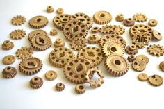 Edible Chocolate Candy Gears 150 unique VEGAN edible embellishments or stand alone candy -by Andie's Specialty Sweets. $127.50, via Etsy.