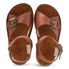 Young Soles Brown Buckled Sandals
