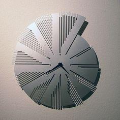 """Time Flies"" wall clock by John Nalevanko"