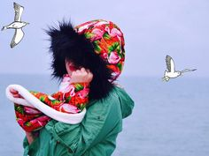 Soft flamingos scoodie by CiervaUK on Etsy Etsy