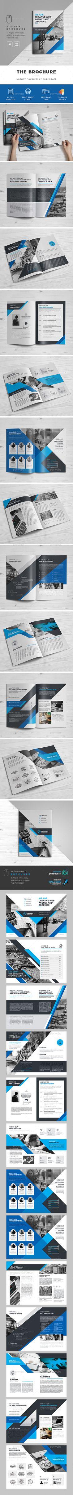 The Brochure - Brochures Print Templates | Download: https://graphicriver.net/item/the-brochure/19483969?ref=sinzo
