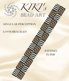 This is an own designed pattern in PDF format, downloadable directly from Etsy. This pattern is for the Singular perceptions LOOM bracelet which is created using Japanese delica beads after ethnic motifs. The pdf file includes: 1. a large picture of the pattern 2. a large, detailed graph of the pattern, 3. a bead legend with the colour numbers and count of the delica beads for the suggested length 4. a word chart of the pattern. Please note that my patterns do not include instructions for...
