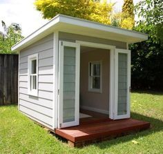 Cat and Lil - mini beach house for your backyard (or stylish kids' cubby house that could turn into a room for respite/relaxation when they grown up!)