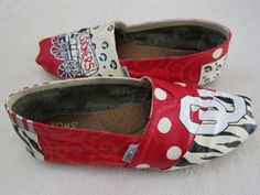 ou sooners tom shoes | Toms Canvas Shoes Flats Custom Hand Painted Ou Sooners Oklahoma ...