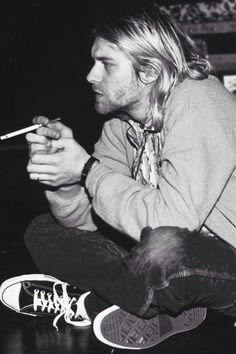 Kurt Cobain was rarely seen without a pair on his feet