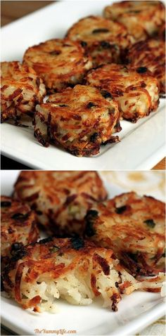 Diy Projects: How to Make Parmesan Hash Brown Cups Side Dish Recipes, Veggie Recipes, Vegetarian Recipes, Cooking Recipes, Fun Recipes, Meal Recipes, Side Dishes, Hash Brown Cups, Good Food