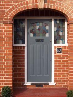 Grey 1930s front door