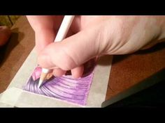 Blending colored pencils with an oil pastel base TanDoll Technique drawi...