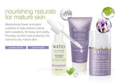 Aging gracefully is all about looking after the skin you are in. Learn more about natio restore for mature skin on our blog.