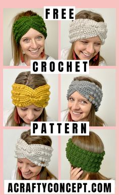 How To Create a Bobble Stitch Headband - Free Crochet Pattern - Learn how to crochet this simple, bobble-yummy, twisted headband. Crochet Twist, Easy Crochet, Free Crochet, Knit Crochet, Crochet Hats, Crochet Headbands, Crochet Ear Warmer Pattern, Crochet Headband Pattern, Knitting Machine Patterns