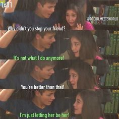 "S1 Ep1 ""Girl Meets Boy"" - Riley and Lucas"