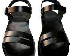 Black Hammer Leather Sandals