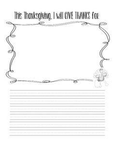 FREE Thanksgiving Writing
