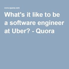 uber glassdoor software engineer