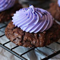 Cream Cheese Brownie Cookies with Cream Cheese Frosting:    JAZZ UP BROWNIE MIX FOR EASY DELICIOUS COOKIES