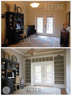Built-ins frame doors or windows