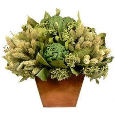 I pinned this Preserved Artichoke Arrangement I from the Floral Treasure event at Joss and Main!