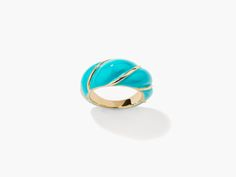 Diana turquoise twisted ring