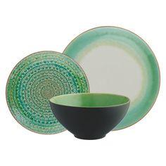 SINTRA Green 12 Piece Dinner Set   Buy now at Habitat UK