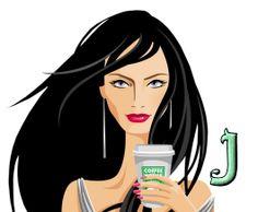 Alfabeto chica tomando el primer café del día. | Oh my Alfabetos!