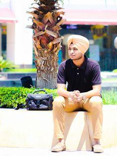 #black t-shirt #light #brown pent #turban #swag sardar #sardarmodel #style #model #swag #photoshoot #canon #combination #blackbrown