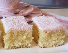 Coconut Slice Recipe Easy Delicious Old Fashioned Favorite is part of Slices recipes - Everyone is loving this Coconut Slice Recipe and you will too It's another old fashioned fave that will be on your must make list Coconut Recipes, Baking Recipes, Cake Recipes, Dessert Recipes, Coconut Cakes, Lemon Cakes, Slab Cake, Cake Stall, Coconut Slice