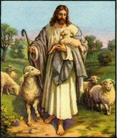 Jesus the Good Shepherd ~ As a child this was the picture I saw at Sunday School