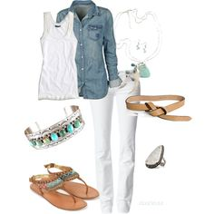 casual white outfit  - summer outfit - spring outfit -