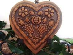 Blackened Beeswax EMBOSSED HEART via Etsy