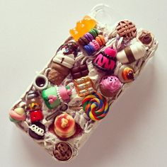 This is a mighty full phone case Kawaii Phone Case, Decoden Phone Case, Diy Phone Case, Cute Phone Cases, Food Iphone Cases, Phone Accesories, Cool Cases, Coque Iphone, Iphone 5c