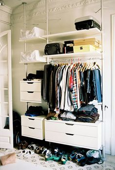 I would kill for this right now. Old house , no closets.
