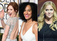 It's like we died and woke up in girl crush heaven. When we saw the latest issue of The Hollywood Reporter and its annual gathering of Emmy-contenting comedy actresses, we let out a collective squeal of excitement. This year's lineup features Tracee Ellis Ross, 42 (Black-ish); Amy Schumer, 34 (In...