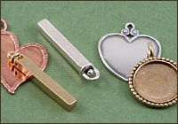 stamping blanks, jewelry findings