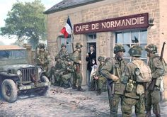 101st Airborne Division in Normandy, 1944. Fig. Simon Smith - pin by Paolo Marzioli