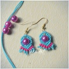Macrame cute earrings http://facebook.com/artelien