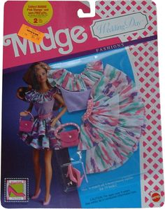 *1990 Wedding day fashions Midge outfit 2 #9634 asst #9635