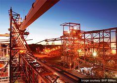 Olympic Dam uranium mine processing plant Australia BHP