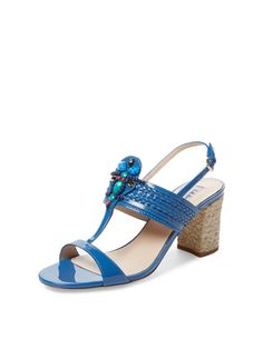 Tally Embellished Sandal from Summer Trend: Block-Heel Sandals on Gilt
