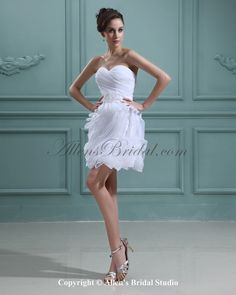 A Line Floor Length V Neck Short Sleeve Chiffon Sweep Train Ruching Dress Ruched Dress Gothic Wedding Dress Beaded Dress