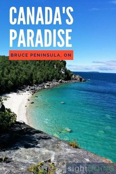 Hiking in Bruce Peninsula National Park (Ontario, Canada) is gorgeous — and leads to a small victory for a solo female hiker/camper. Ontario Camping, Ontario Travel, Tobermory Ontario, Tobermory Canada, Parks Canada, Canada Canada, Alberta Canada, Canadian Travel, Canadian Rockies