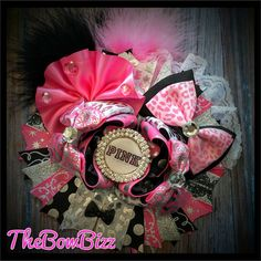 #PINK Over the top stacked boutique hair bow by: TheBowBizz @ TheBowBizz.luulla.com