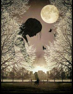 Moon Photos, Moon Pictures, Moon Sighting, Beauty Night, Dusk To Dawn, Moon Magic, Beautiful Moon, Moon Art, Beautiful Paintings