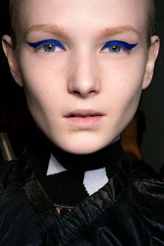 Blue Eye Makeup For Fall 2014 - Blue Eye Makeup - Harper's BAZAAR