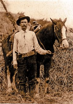 "Charles Siringo - He ""rid the Chisholm trail"" driving 2,000 head of cattle from Austin to Kansas, knew old Tascosa when it was home to raucous saloons, red Light districts, and a fair share of violence; he led a posse of cowboys in pursuit of Billy the Kid, later became a Pinkerton detective. Then he wrote a first hand account about his life that is a recognized true classic of Texas history, called A Texas Cowboy."