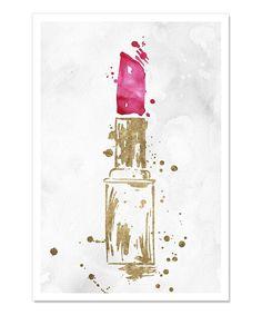 Look what I found on #zulily! Lipstick Lover Art Print by Oliver Gal #zulilyfinds