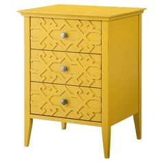 Threshold™ Fretwork Accent Table -- to use as nightstand, or as accent table in living room Modern Storage Furniture, Colorful Furniture, Living Room Furniture, Painted Furniture, Accent Furniture, Furniture Design, End Tables With Storage, Table Storage, My New Room