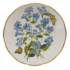 American Wildflower Blue Wood Aster Dinnerware | Gracious Style
